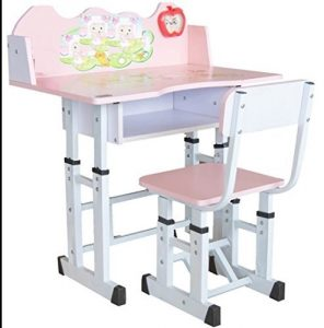 TruGood Pink Study Table Set for Girls